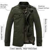 Mens Fall Winter Fashion Brief Style Outwear Large Size Casual Cotton Jacket