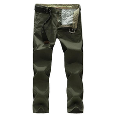 Casual Thin Solid Color Mid Rise Straight Leg Long Pants For Men