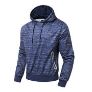Hoodies Solid Color Zipper Hood Fashion Casual Sport Hooded Tops for Men