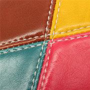 Женщины Стильный контраст Цвет Лоскутная Кожа PU сцепления телефон мешки бумажника