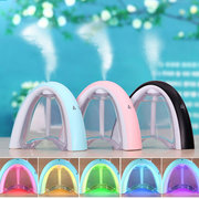 LED Ultrasonic Message Board Humidifier Aroma Air Diffuser Purifier Lonizer Atomizer 3 Colors