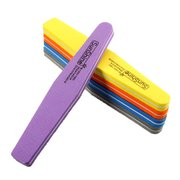 5 Colors Double-sided Nail File Manicure Grind Tool Sponge Sandpaper