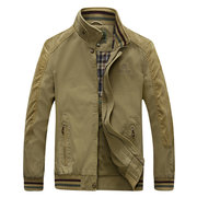 AFS JEEP Autumn Military Outdoor Business Stitching Pure Cotton Stand Collar Jacket for Men