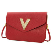 Women Embossing Pattern Mini Leather Crossbody Bag