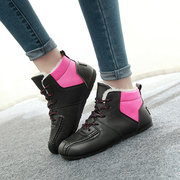 Color Match Waterproof Warm Lace Up Ankle Casual Boots