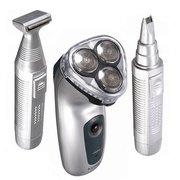 Kemei KM-3943 3 In 1 Rotary Electric Rechargeable Razor Shaver Trimmer