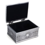 Square Alloy Storage Organizer Holder Jewelry Box