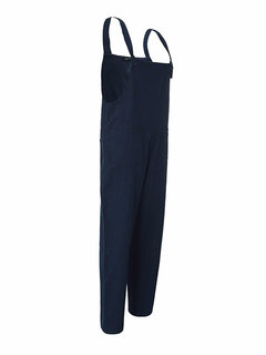 Casual Solid Strap Jumpsuit Dungaree Trousers Overalls For Women