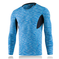 Bodybuilding Sport Tops Quick-Dry Elastic Tight Fitting Long Sleeve T-Shirt For Men