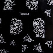 3D Silver Hollow Out Butterfly Nail Art Stickers Decal Decoration