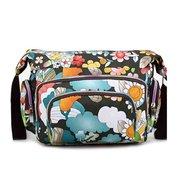 Women Casual Nylon Flower Printing Shoulder Bags Light Outdoor Crossbody Bags