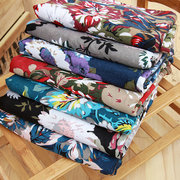 Women Flower Ethnic Style Cotton Scarf Floral Printing Wrap Shawl