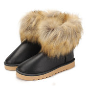 Artificial Fur Warm Ankle Flat Slip On Boots