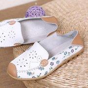 Цветочные печати Выдалбливают дышащий Color Match с Повседневный поскользнуться на плоских обувь