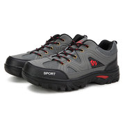 Men Lace Up Outdoor Hiking Sport Shoes