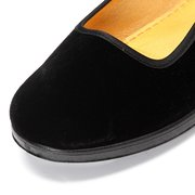 Black Canvas Buckle Dance Ballet Flat Mary Jane Chinese Style Shoes