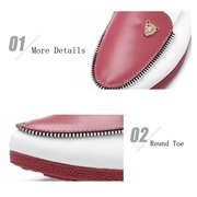 Casual Artificial Leather Slip On Round Toe Soft Sole Comfortable Flat Loafers