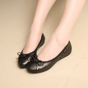 Big Size Egg Roll Pure Color Slip On Flat Butterfly Knot Folded Shoes