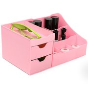 4 Colors Plastic Cosmetic Organizer Pull-out Storage Compartment Nail Polish Case