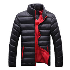 Winter Casual Outdoor Fashion Thicken Warm Stand Collar Padded Jacket for Men