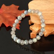 7mm Natural Crystal Moonstone Adularia Bracelet Fine Jewelry for Women
