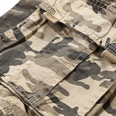 Summer Casual Camouflage Multi-Pocket Cotton Loose Fit Plus Size Cargo Shorts For Men