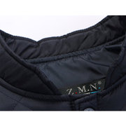 Winter Casual Thick Warm Stand Collar Solid Color Down Jacket for Men