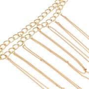 Multilayer Tassel Gold Plated Body Chain