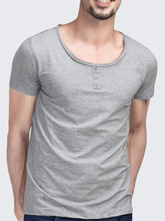 Summer Mens Cotton Solid Color Crew Neck Short Sleeved T Shirts