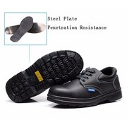 Men Leather Wearproof Protective Lace Up Protective Sport Boots