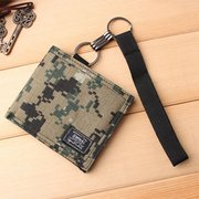 Mens Wallet  Leisure Canvas Purse Camouflage Short Wallet Youth Slim Wallet