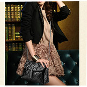Women Diamond Lattice Casual Crossbody Bag Ladies Elegant Tassel Shoulder Bag