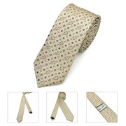 Mens Business Dot Polyester Silk Skinny Jacquard Woven Solid Neckties