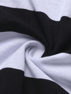 OL Splicing Cross Stripe Quarter Chiffon Hem Women Mini Dress