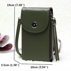 Vintage PU Leather Universal 6inch Shoulder Phone Bag For iPhone Samsung Sony Huawei Xiaomi