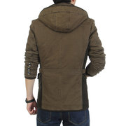 Men's Winter Thickened Warm Cotton-padded Hooded Coat