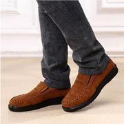 Старый Пекин стиль Холст Удобный плоский поскользнуться на Повседневная обувь для мужчин