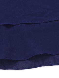 Женщины Твердые Лепестки рукава Бисероплетение Лоскутное Нерегулярное шифон футболка
