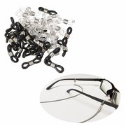 25pcs Eye Glasses Spectacle Chain Strap Holders Rubber Loop Ends Clear & Silver
