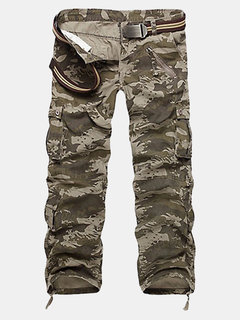 Men's Multi-pockets Cargo Pants Casual Camouflage Pants