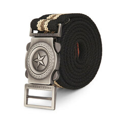 Men's Pentagram Outdoor Automatic Buckle Extended Length Canvas Military Tactical Belt