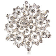 Elegant Rhinestone Flower Wedding Brooch