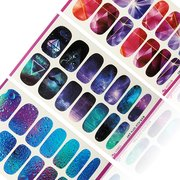 3D Sky Water Transfer Nail Art Wraps Stickers DIY Decals Beauty Decoration