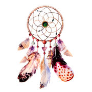 6 Patterns 3D Body Art Dreamcatcher Feather Decal Temporary Tattoo Chinese Ink Painting Body Art
