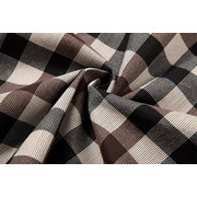 Men's Fall Winter Coat Fashion Black And White Plaid Stand Collar Casual Jacket