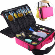 Large Capacity Makeup Brush Bag Case Cosmetic Pouch Storage Handle Organizer Travel Rose