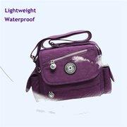 Women Nylon Lightweight Shoulder Bags Waterproof Casual Crossbody Bag Multi-pocket Bags