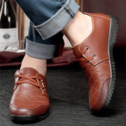 Metal Plaid Stitching Mesh Dress Lace Up Casual Shoes For Men