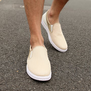 Men Mesh Color Match Breathable Slip On Outdoor Casual Sport Shoes