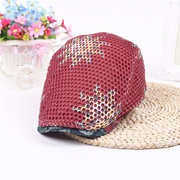 Men Women Outdoor Sun Mesh Print Beret Cap Newsboy Golf Cabbie Flat Peaked Sport Hat